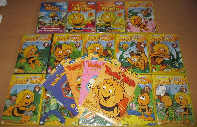 Velká kolekce včelka Mája - 18 DVD