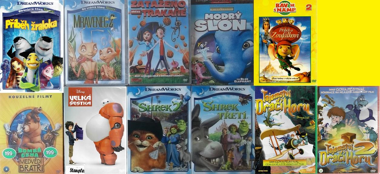 Kolekce Slavné animované příběhy - 11 DVD