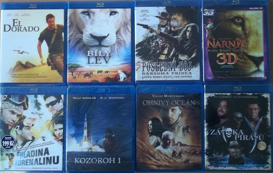 Blu-ray kolekce Dobrodružná - 8 Blu-ray