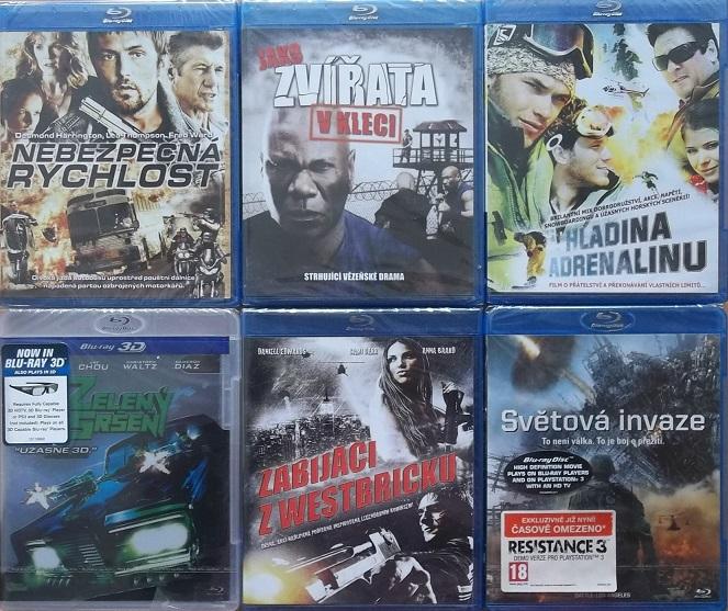 Blu-ray kolekce Akční - 6 blu-ray