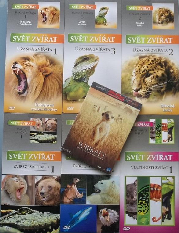 kolekce Svět zvířat - 7 DVD