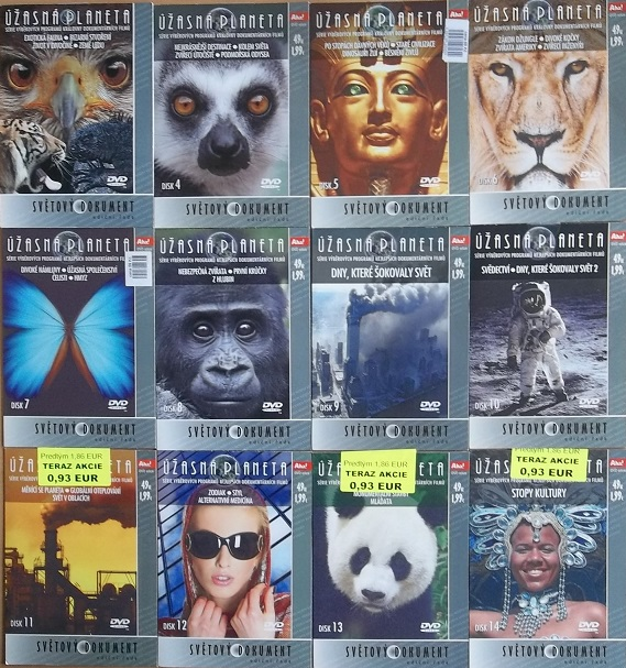 Kolekce Úžasná planeta - 12 DVD