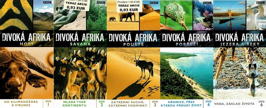 Kolekce Divoká Afrika - 5 DVD pošetky ( nekompletní )
