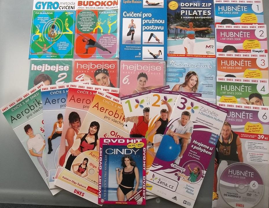 Velká kolekce cvičení - 3 knihy+18 DVD+1 CD