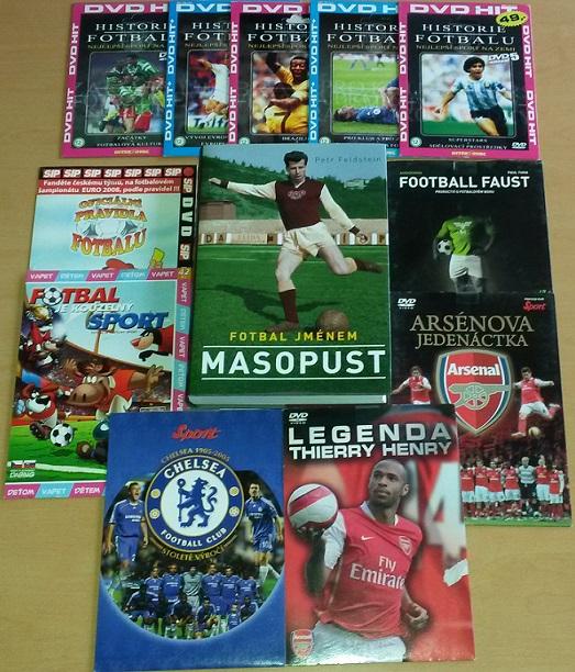 Kolekce Fotbalová - 1 Kniha+1 CD+10 DVD
