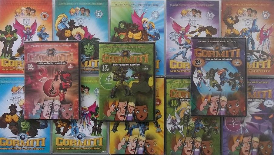 Kolekce Gormiti - 13 DVD ( nekompletní )