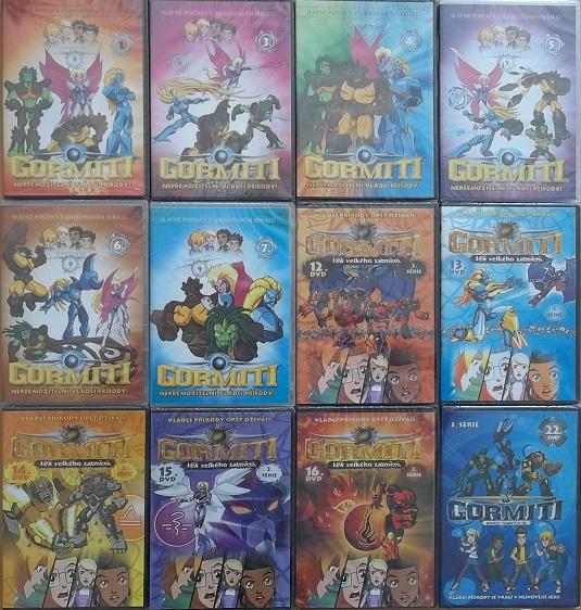 Kolekce Gormiti - 12 DVD