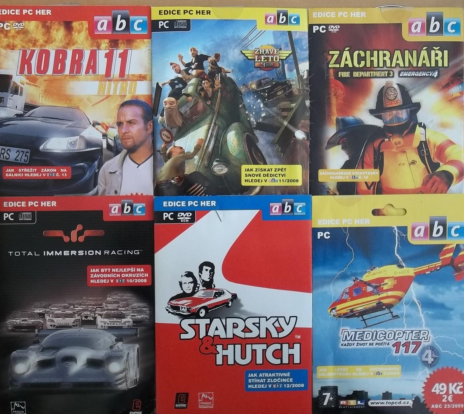 Kolekce PC hra automobilová - 6 DVD