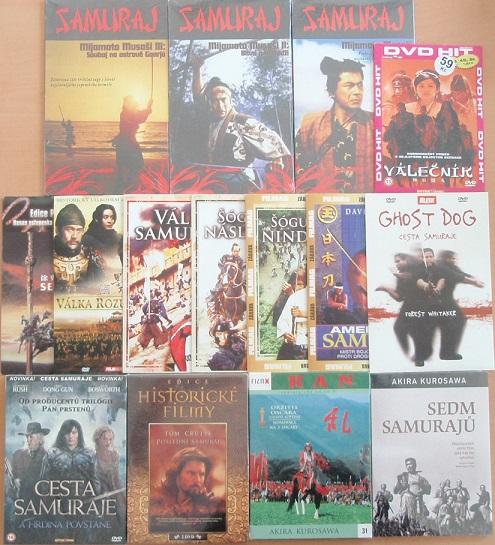 Samurajská kolekce - 15 DVD