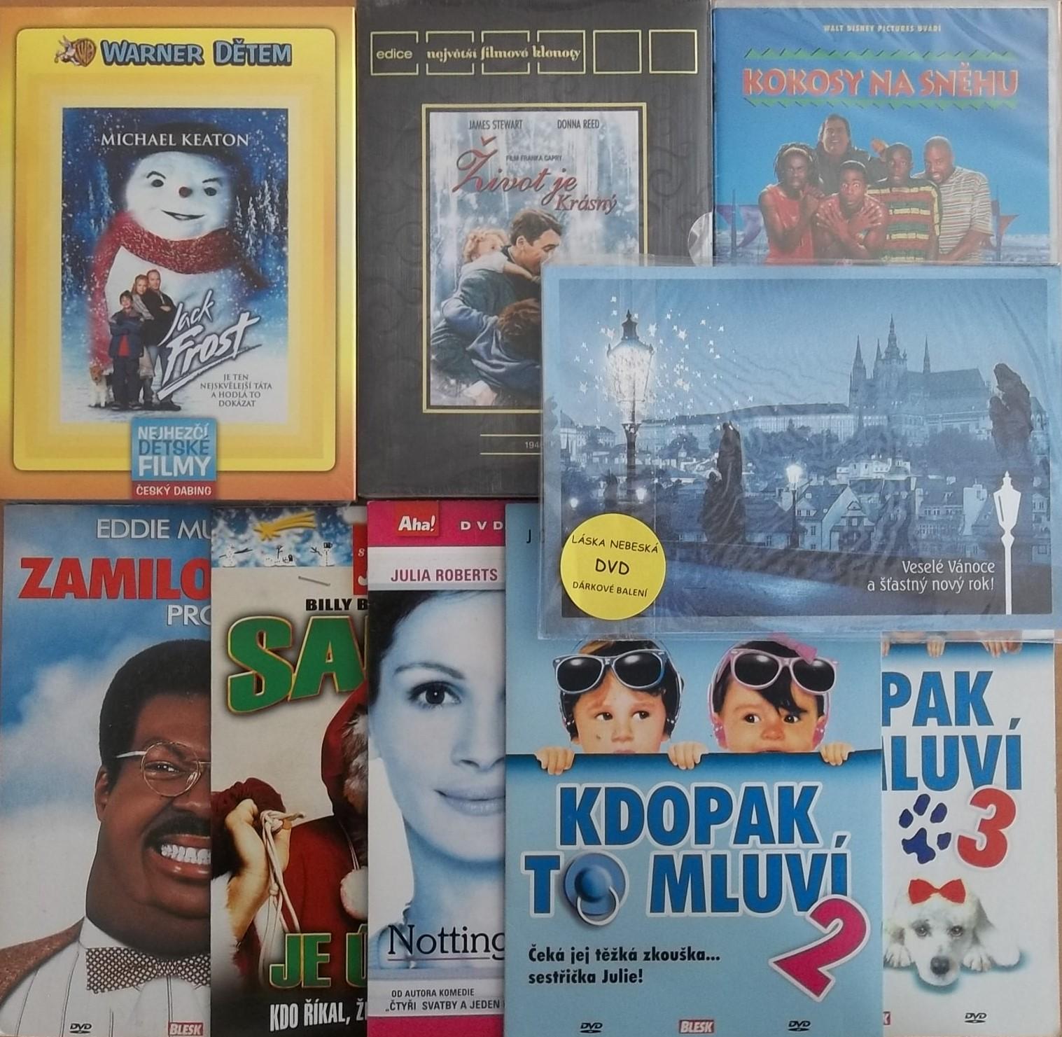 Vánoční filmový zahraniční speciál - 9 DVD