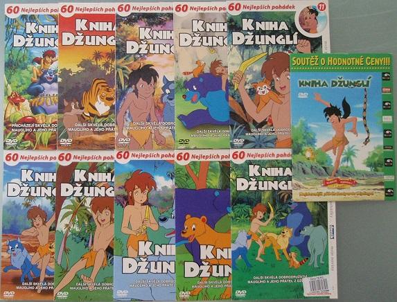 Kolekce Kniha Džunglí - 11 DVD
