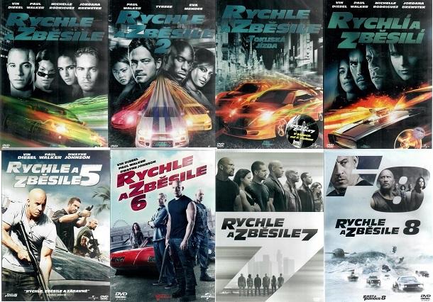 Kolekce Rychle a zběsile - 8 DVD plast