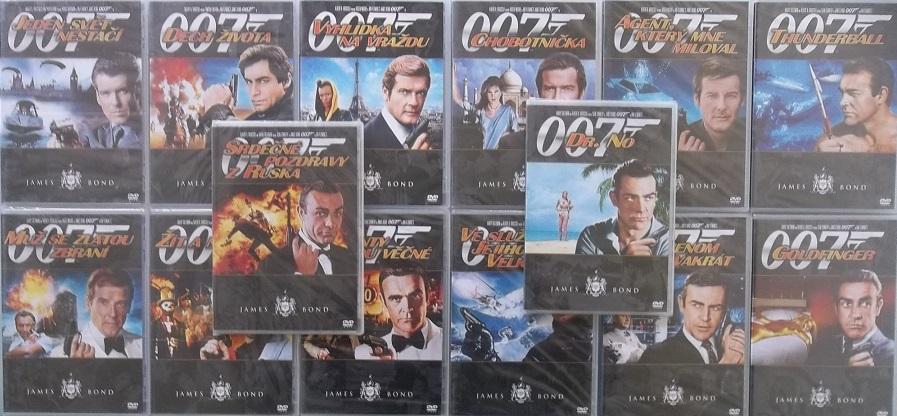 Kolekce James Bond 14 DVD ( Nekompletní)