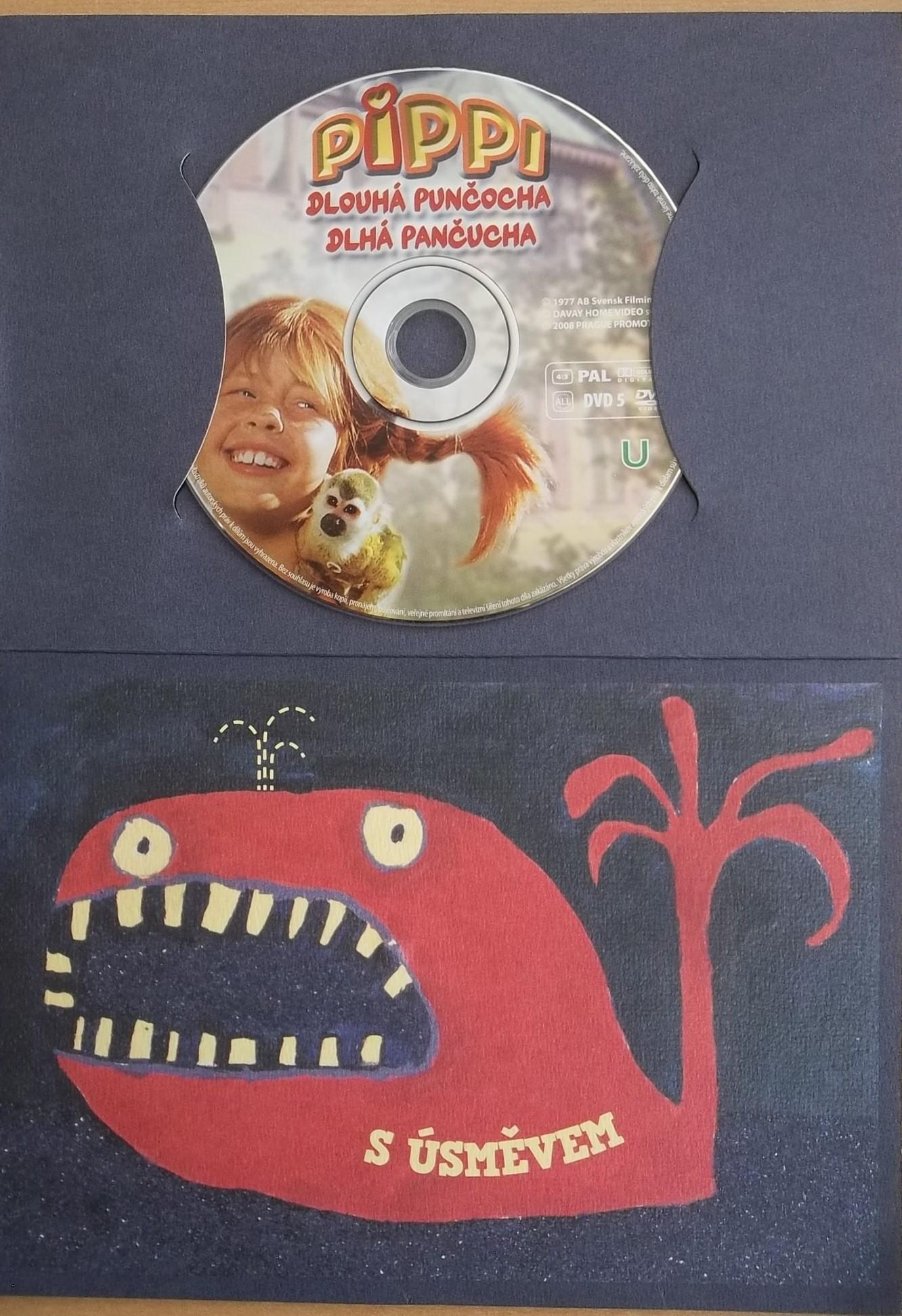 Pippi dlouhá punčocha - film - dárková obálka - DVD