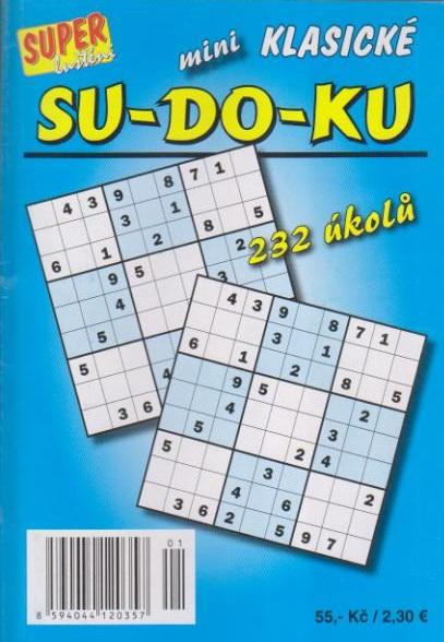 Sudoku mini klasické - 232 úkolů