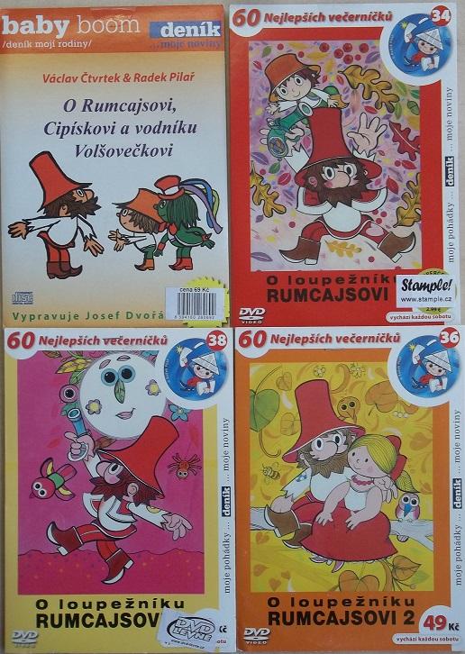 Kolekce O loupežníku Rumcajsovi 4 DVD