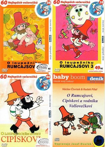 Kolekce O loupežníku Rumcajsovi 3x DVD + 1x CD