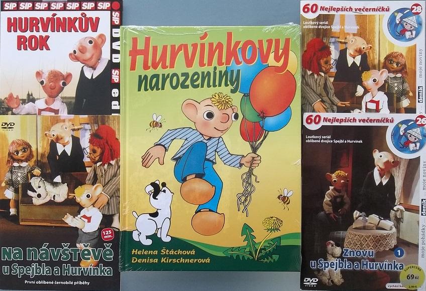 Kolekce Hurvínek  4DVD +1kniha