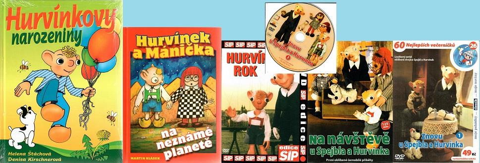 Kolekce Hurvínek  4DVD +2kniha