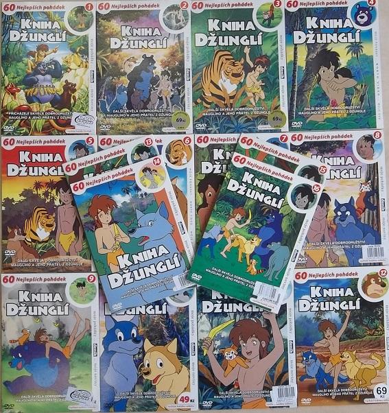 Velká kolekce Kniha Džunglí 16DVD