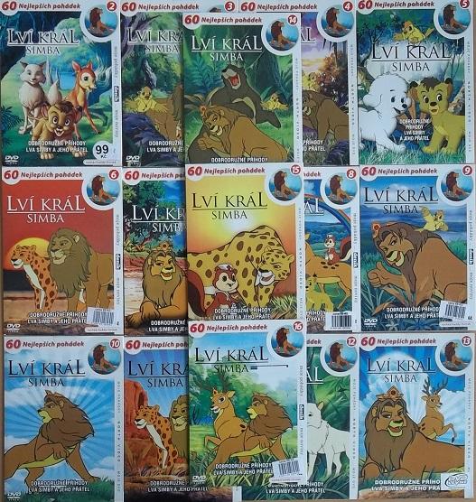 Velká kolekce Lví Král Simba 16DVD