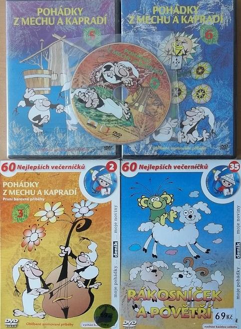 Kolekce Pohádky z mechu a kapradí + Rákosníček - 5 DVD