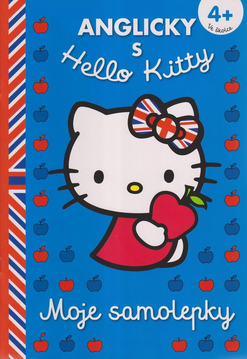 Anglicky s Hello Kitty 4+ Moje samolepky (modrá)