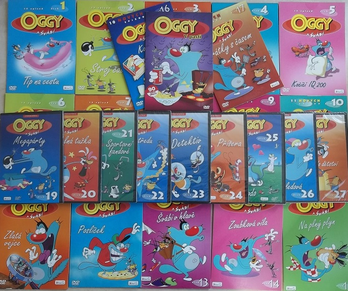 Velká kolekce Oggy a švábi 25 DVD
