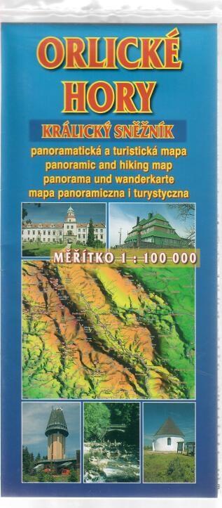 Orlické hory Králický Sněžník - panoramatická a turistická mapa