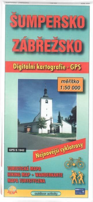 Šumpersko Zábřežso - Digitální kartografie - Turistická mapa
