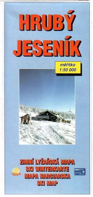 Hrubý Jeseník - Zimní lyžařská mapa