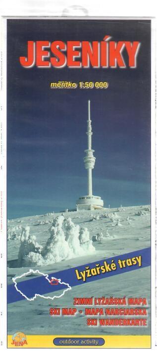 Jeseníky - Zimní lyžařská mapa