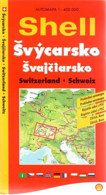 Švýcarsko přehledná automapa