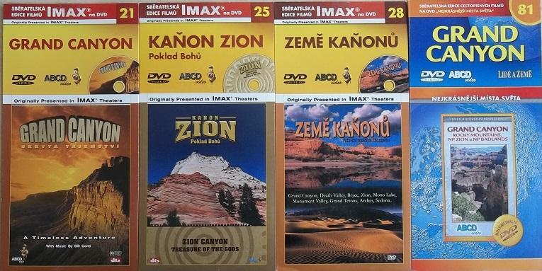 Kolekce Kaňony Ameriky 4DVD