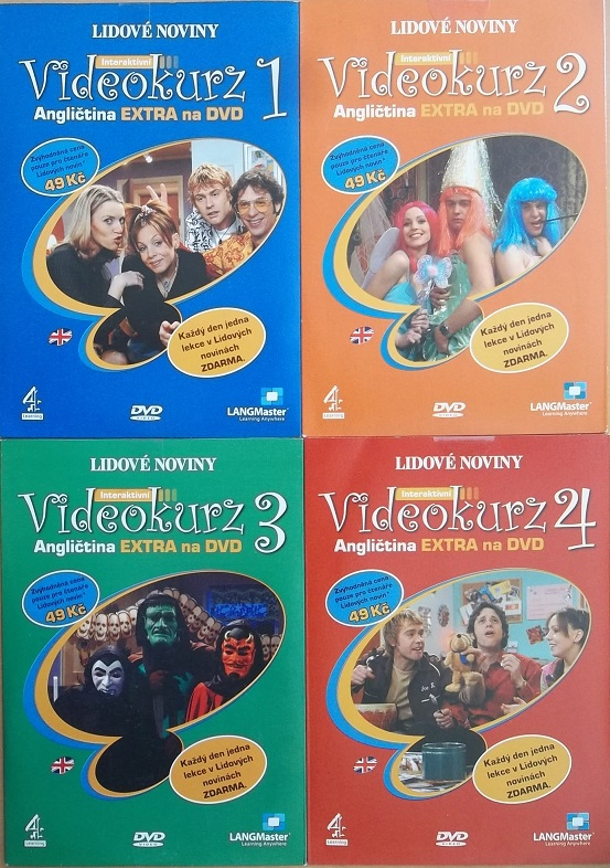 Kolekce Videokurz Angličtina 4DVD