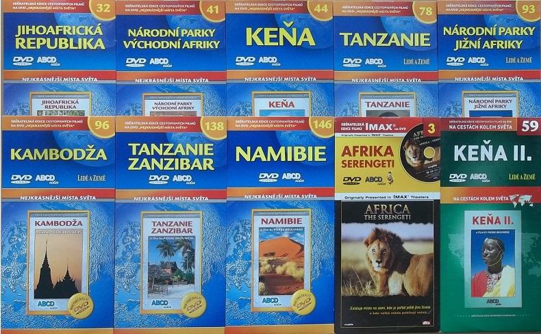 Kolekce Afrika 10DVD + DÁREK