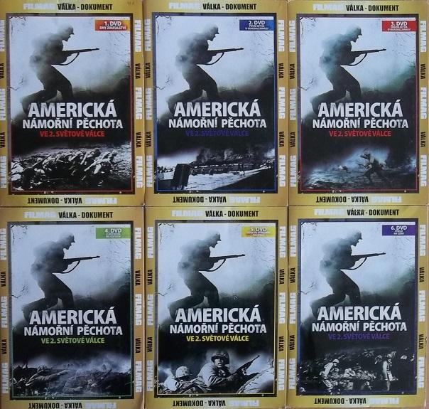 Kolekce Americká námořní pěchota 6DVD