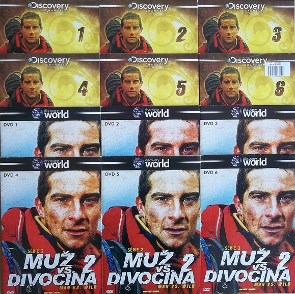 Kolekce Muž vs. divočina 12DVD