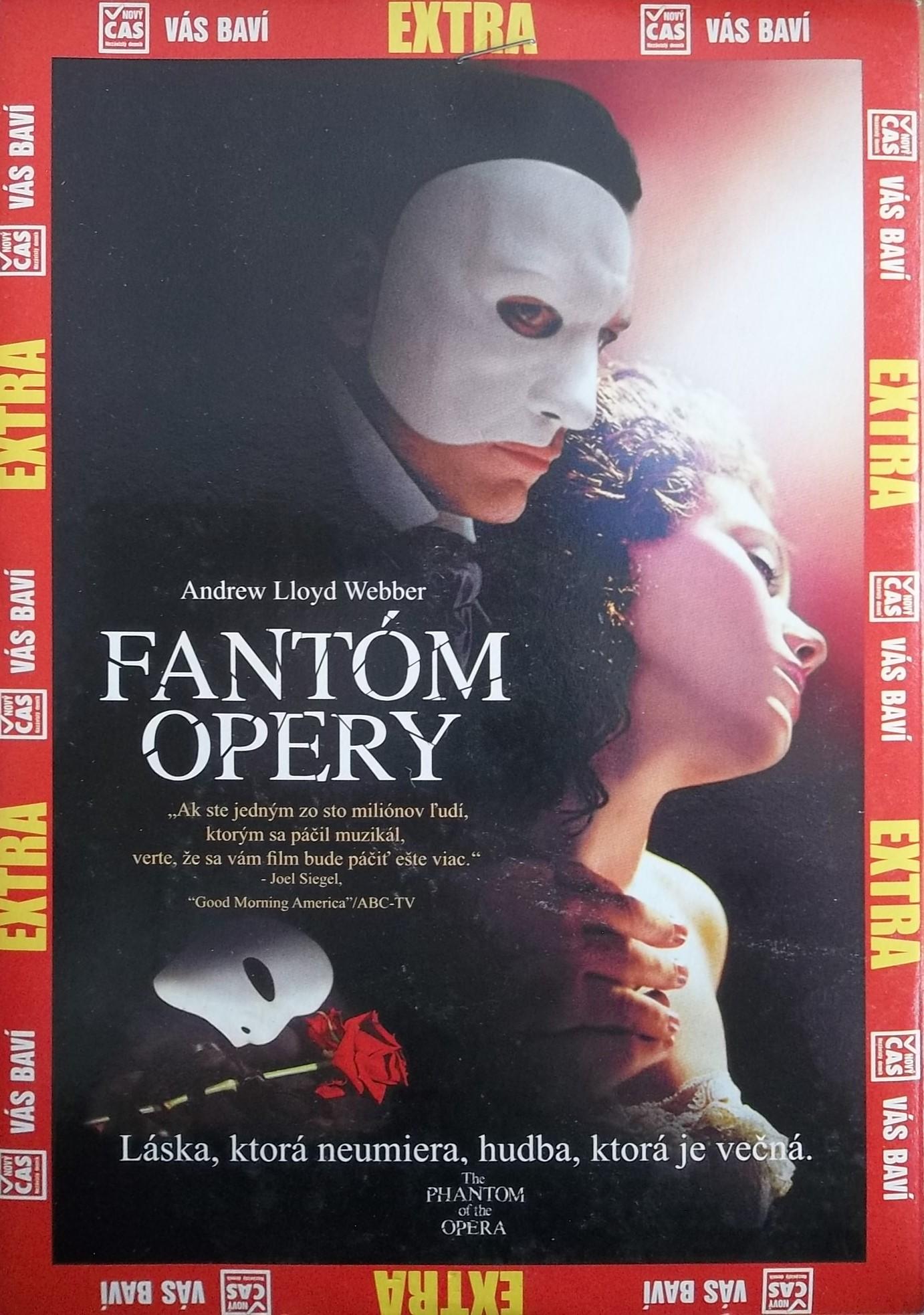 Fantom opery - Gerard butler DVD ( pošetka)