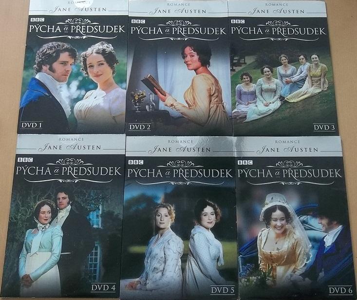 Kolekce Pýcha a předsudek - 6 DVD