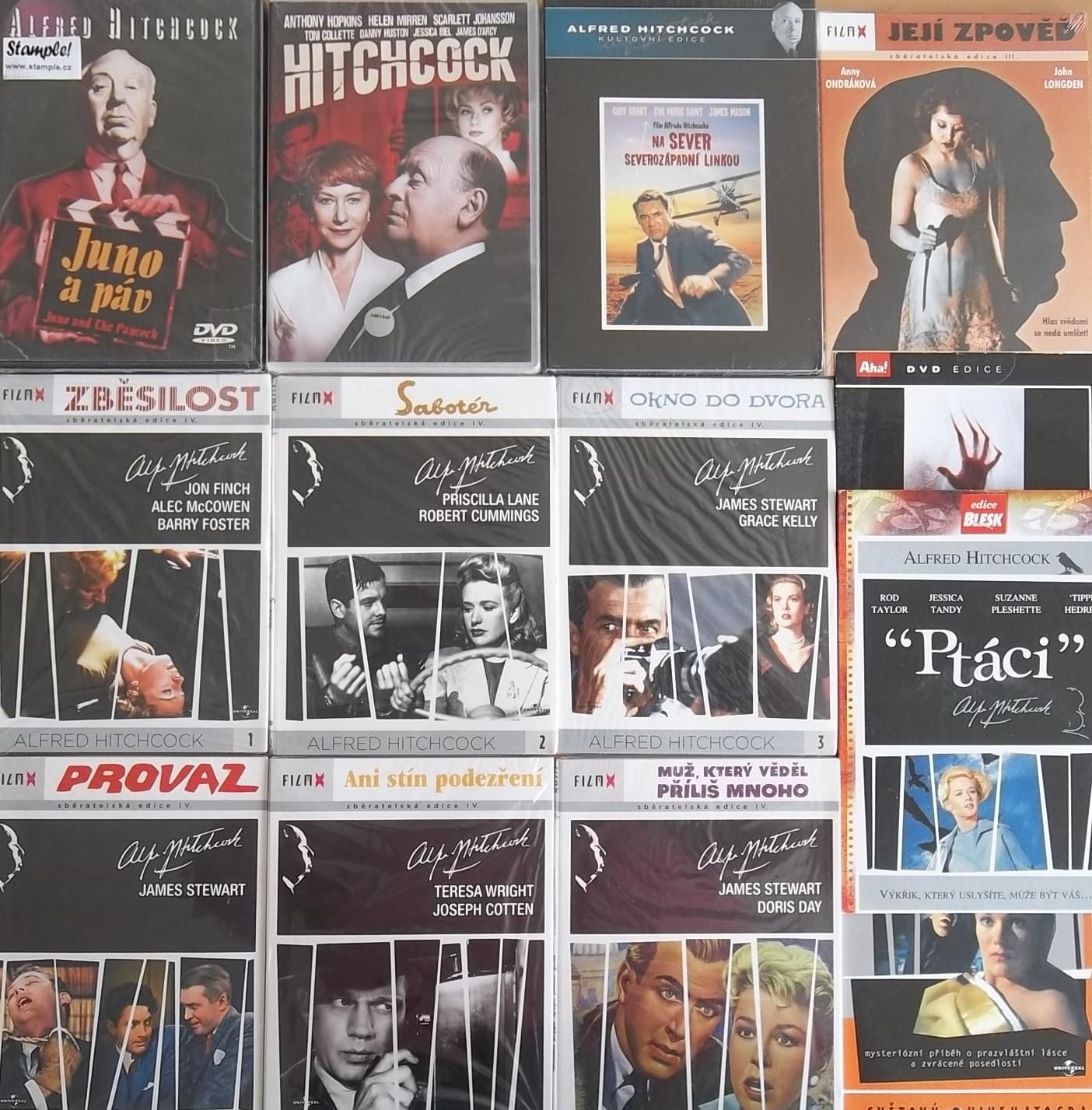 Kolekce Alfred Hitchcock 12DVD