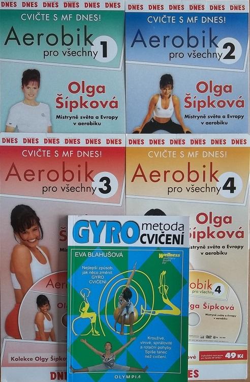 Kolekce Aerobik pro všechny s Olgou Šípkovou 4DVD +kniha