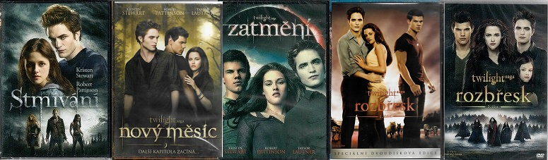 Kolekce Twilight / Stmívání ( 5x DVD )
