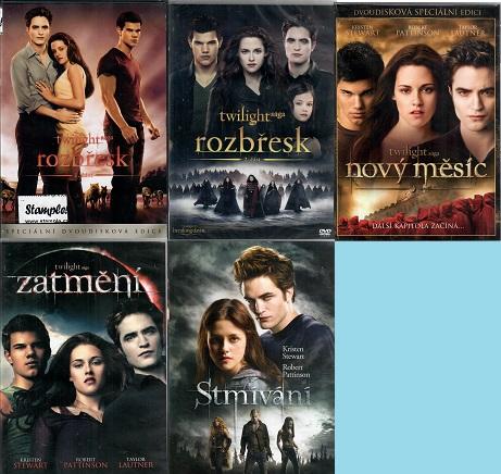 Kolekce: Twilight / Stmívání (5x DVD)