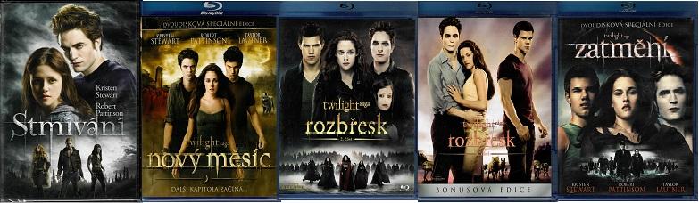 Kolekce Twilight / Stmívání ( 1x DVD + 4x Blu-ray )