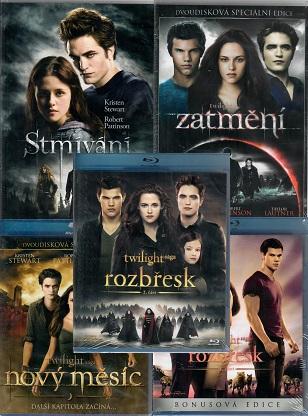 Kolekce: Twilight / Stmívání ( 2x DVD + 3x Blu-ray )
