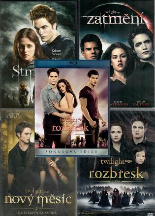 Kolekce: Twilight / Stmívání ( 4x DVD + 1x Blu-ray )