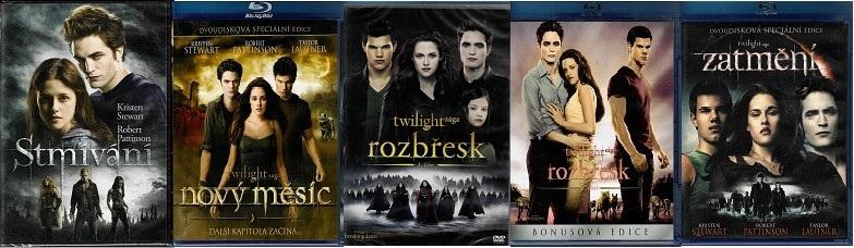 Kolekce Twilight / Stmívání ( 2x DVD + 3x Blu-ray )