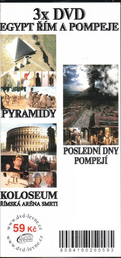 3x DVD Egypt, Řím a Pompeje