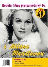Nedělní filmy pro pamětníky 14: Adina Mandlová – 2x DVD v PP (Nezlobte dědečka + Život je pes )